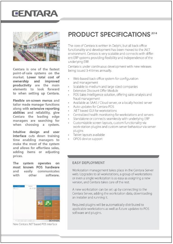 Horizontal - Centara Technical Specifications_Page_1