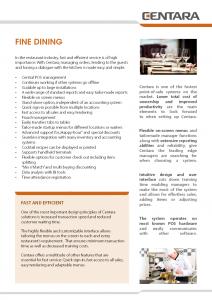Hospitality - Fine dining -