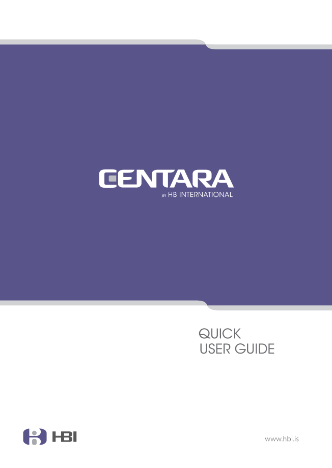 CENTARA-Quick-User-Guide